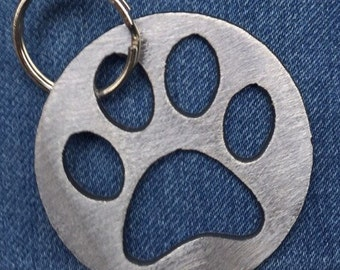 Dog Paw Print Keychain