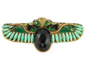 Hanna Bernhard  Egyptian Revival Scarab Brooch