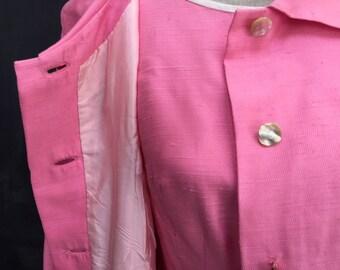 Sassy Vintage Pink Dress and Jacket Set