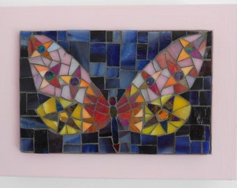 A Mosaic Butterfly in a frame