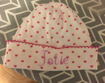 Custom newborn hat