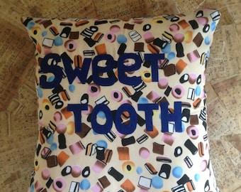 Sweet Tooth - Appliqué Cushion Cover