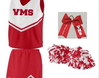 Cheer Uniform, Girls Spirit Uniform, Cheerleader, Cheerleading,