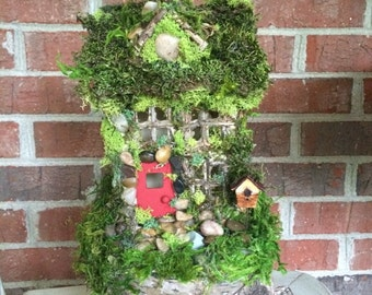 Fairy house with RED door(STANDARD SIZE)