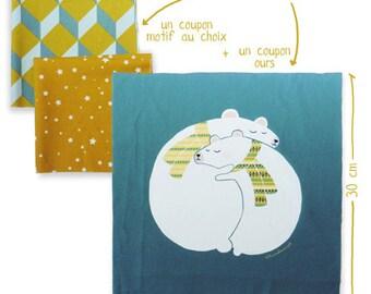Sewing - cushion bears - tissue Kit printed