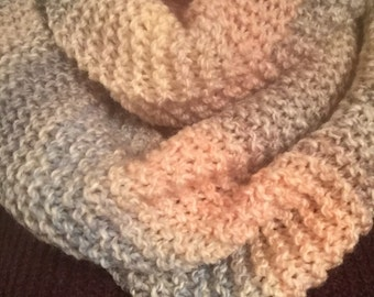 Winter warm hand knitted snood
