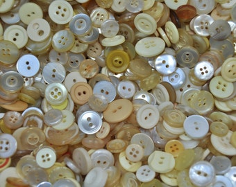 1/2 pound Vintage Champagne Buttons /246