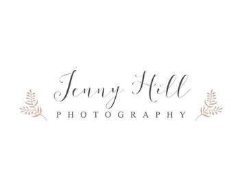 Premade Logo Design Branding High Resolution Minimal Simple Clean Laurel Floral Calligraphy Script Leaf Design