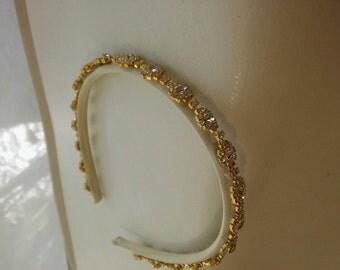 Stunning Gold headband with rhinestone