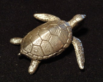 Sterling Silver Sea Turtle Pendant with EGGS