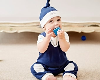 Outfit for a baby boy - new baby clothes - newborn gifts - overalls