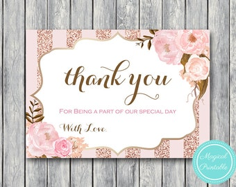 Wedding Thank you cards, Thank you notes, Wedding Favor Cards, Shower Favors, Bridal Shower Thank you cards, Favors wd90 WI32