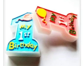 My 1st Birthday candle birthday party baby shower My 1st BIRTHDAY / Party Decor / Christmas Party / Count Down Party