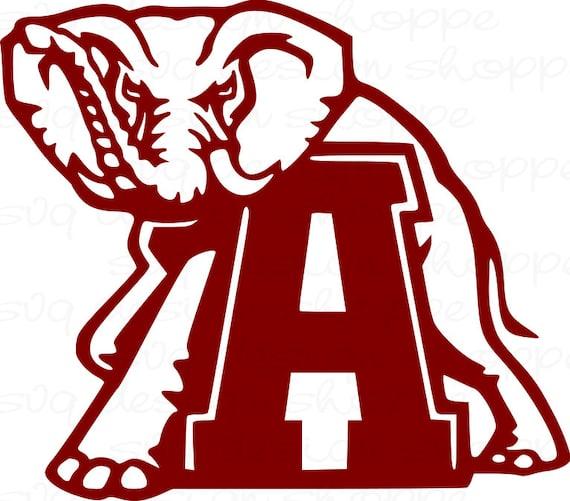 Svg Alabama Elephant Alabama Crimson Tide Roll Tide