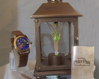 Tinker Bell Captured Watch Peter Pan Disney Lmt. Ed. Collectible Set
