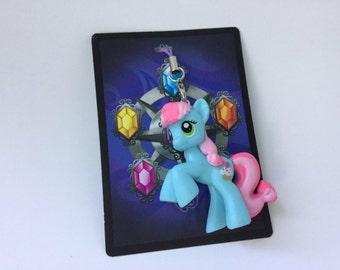 My Little Pony Blue pony Zipper Pulls Sweetie Blue, Wonderbolt,Ruby Splash