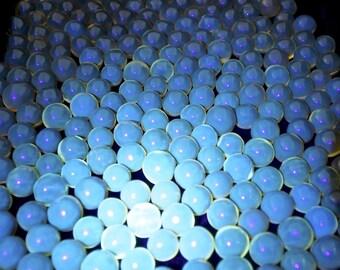 1kg. blue amber sphere 12-15mm