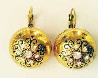 Vintage Earrings - Antique gold earrings - Vintage jewelry
