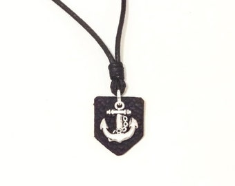 SALE 15% OFF Anchor Necklace/Men necklace/Silver plated/Nautical Necklace/Men's Necklace/Men's Anchor Necklace/Gift for Him/Navy jewelry