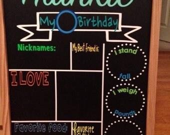 Reusable Birthday Chalkboard