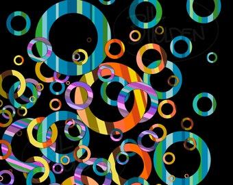 Circles 2 Abstract Canvas Print