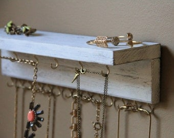 Jewelry Display - Rustic Jewelry Storage - Wood Jewelry Display - Jewelry Organizer - Jewelry Holder - Jewelry Shelf - Rustic Wall Decor