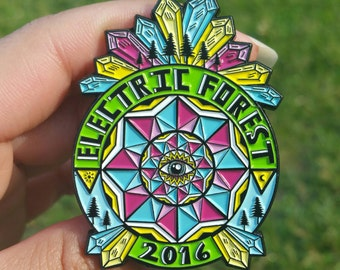 Electric Forest 2016 Geometric Crystals Pin