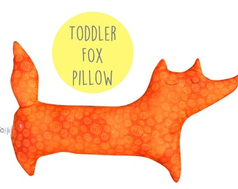 Sale ! Toddler pillow, baby cushion, fox, kids animal pillow, decorative pillow, kids pillow , animal pillow, toddler,
