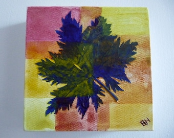Original artwork, leaf collage