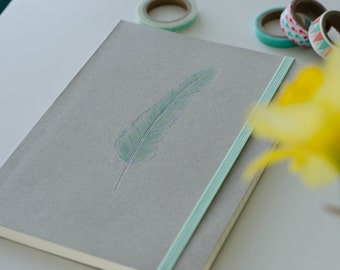 Notebook a5 spring Mint Green
