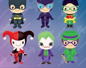 Superhero clipart, Superhero clip art, comic clipart, super hero clipart -LN074-
