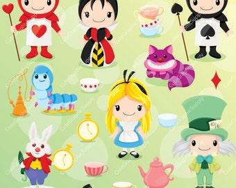 Alice in Wonderland clipart, wonderland clipart, alice clipart, disney inspired clipart, fairytale clipart, magic clipart, LN0103