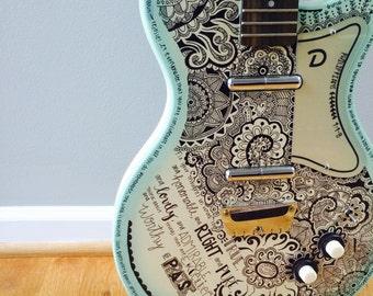 Customized decorative guitar