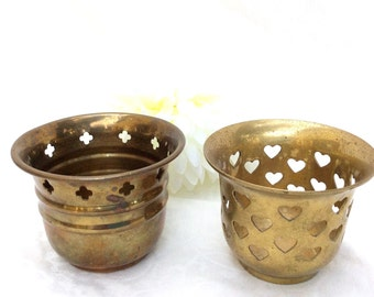 Brass Votive Candle Holder 1950's