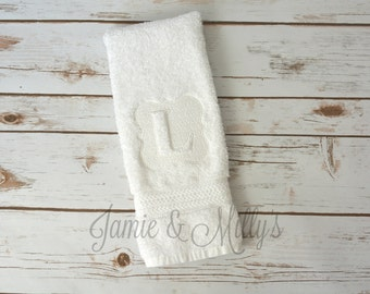 hand towel   monogrammed   embossed   embroidered