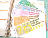 Awareness mini sticker kits for Childhood Cancer, Breast Cancer, Liver Disease, ADHD, Diabetes, PTSD perfect for your Life Planner