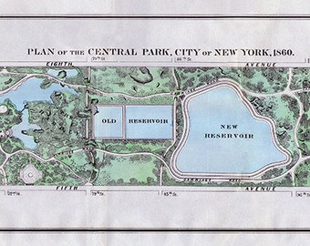 Plan of the Central Park of New York, 1860