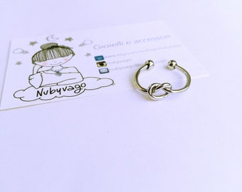 Steel knot ring (adjustable)