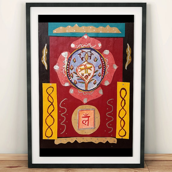 Chakra Painting - Chakra Art - Root Chakra Painting - Small Root Chakra Painting - Chakra Home Decor - Yoga Studio Decor - Meditation Art