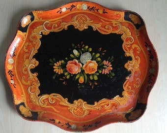 Paper Mache Tray Japan 1940s