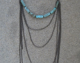 Gunmetal Chain Necklace