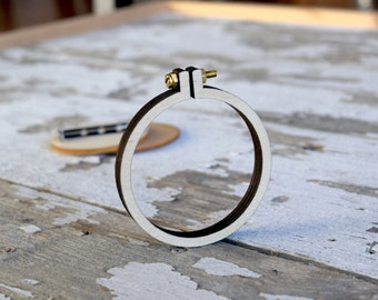 "Mini Embroidery Hoop Frame with Brooch - 2.2""/5.5CM Hoop - Miniature Embroidery Hoops - Mini Hoop Frame"