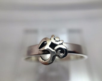 OM Sterling Silver Stackable Ring