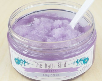 Lavender Body Scrub, Sugar Scrub, Relaxing Scrub, Body Polish