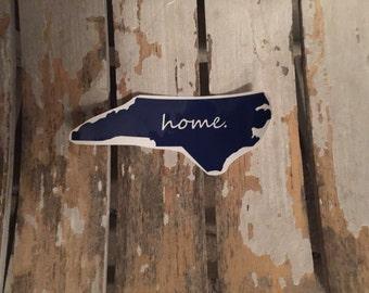 "North Carolina ""home"" decal"