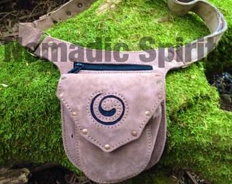 3 pocket suede adjustable festival hip belt psytrance hippie burning man pixie
