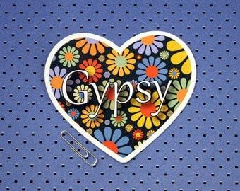 Gypsy Heart Bumper Sticker