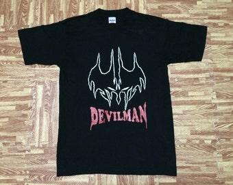 VIintage 90s NOS Unworn THE DEVILMAN t shirt Medium Size