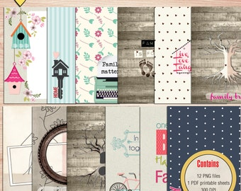 SUMMER SALE - In this together Journal Cards - Instant Download - Printable journaling cards for Project Life and digital scrapbooking