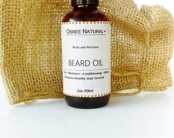 Osree Natural-Handcrafted Beard Oil Featuring Argan Oil and Jojoba Oil 2oz.